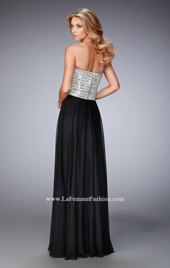 Picture of: Sweetheart Neckline Prom Dress with Sparkling Gems in Black, Style: 22137, Back Picture