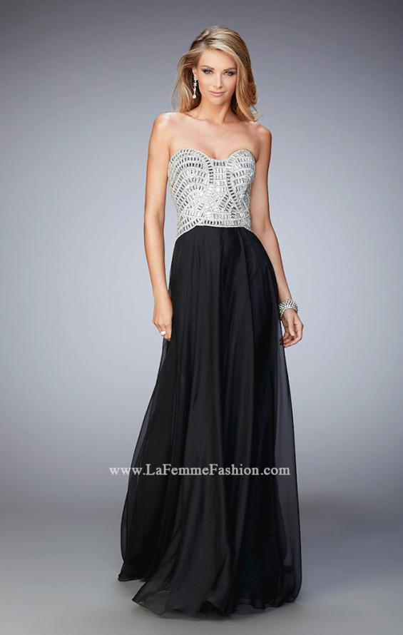 Picture of: Sweetheart Neckline Prom Dress with Sparkling Gems in Black, Style: 22137, Detail Picture 1