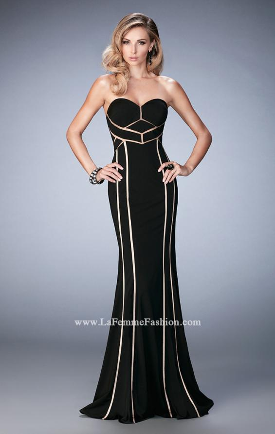 Picture of: Jersey Prom Dress with Sweetheart Neck and Open Back, Style: 22205, Main Picture
