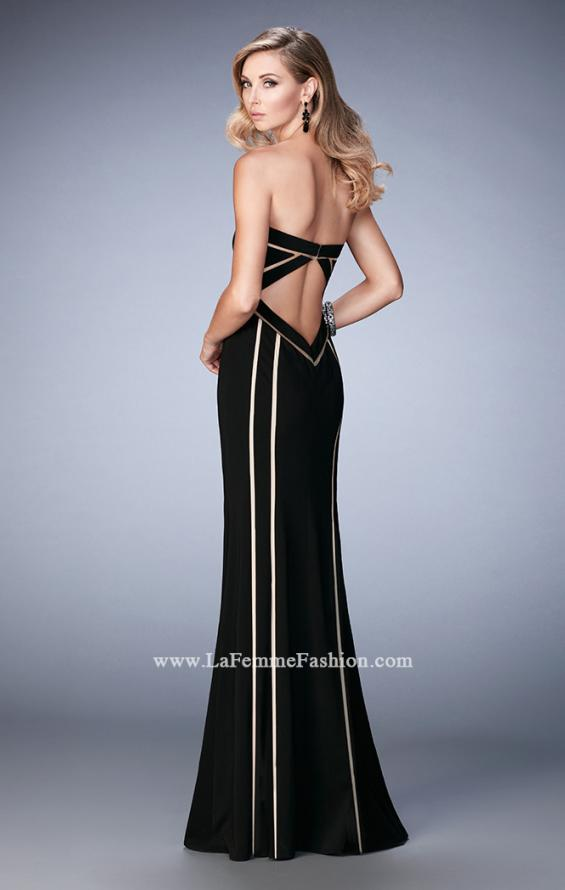Picture of: Jersey Prom Dress with Sweetheart Neck and Open Back, Style: 22205, Back Picture