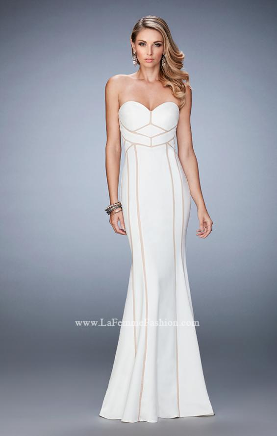 Picture of: Jersey Prom Dress with Sweetheart Neck and Open Back, Style: 22205, Detail Picture 1