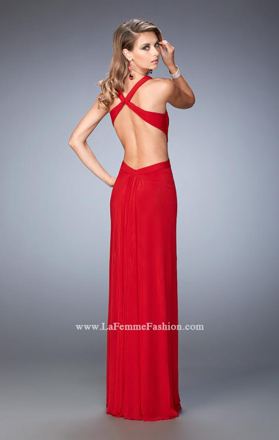 Picture of: Sexy Prom Dress with Cut Outs and Open Back in Red, Style: 22224, Back Picture