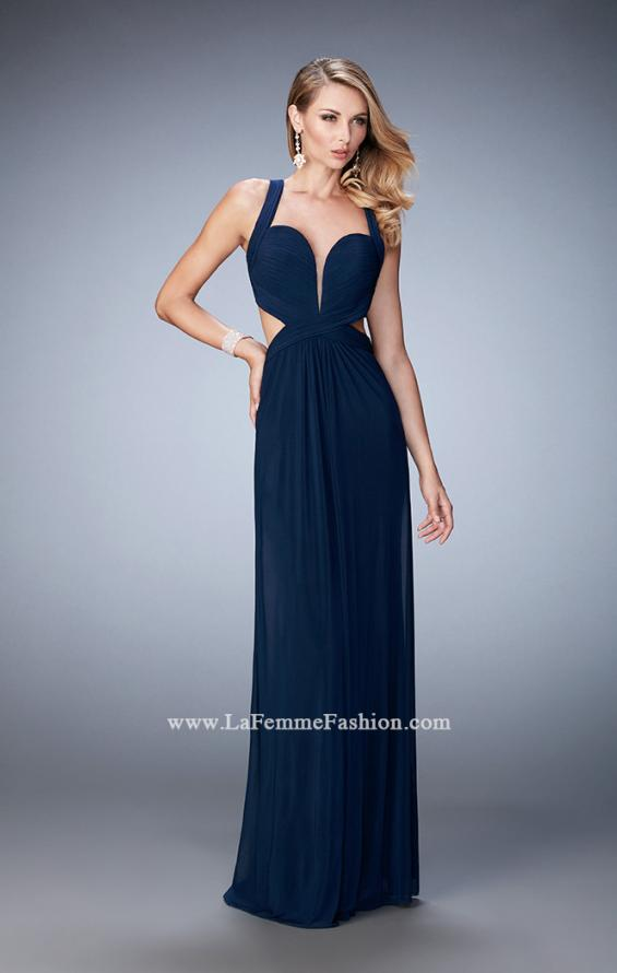 Picture of: Sexy Prom Dress with Cut Outs and Open Back in Blue, Style: 22224, Detail Picture 1
