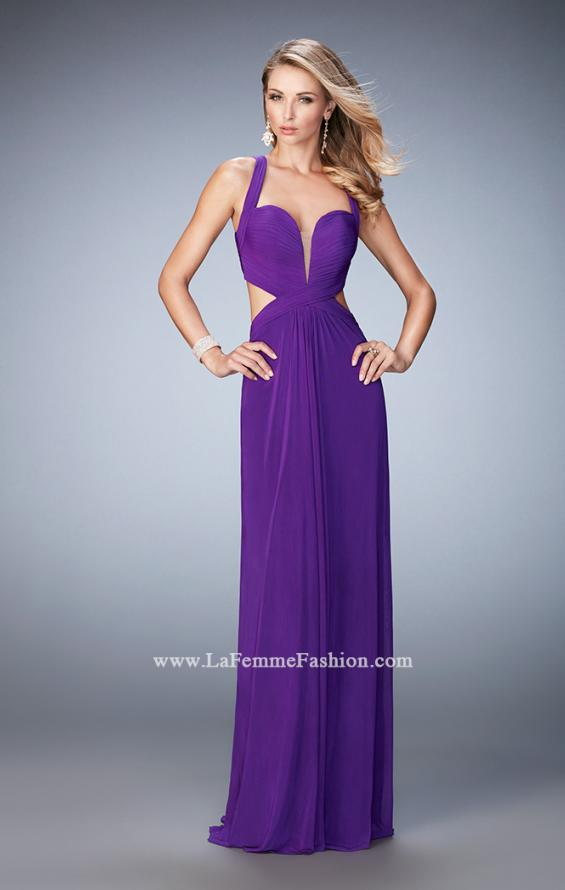 Picture of: Sexy Prom Dress with Cut Outs and Open Back in Purple, Style: 22224, Detail Picture 2