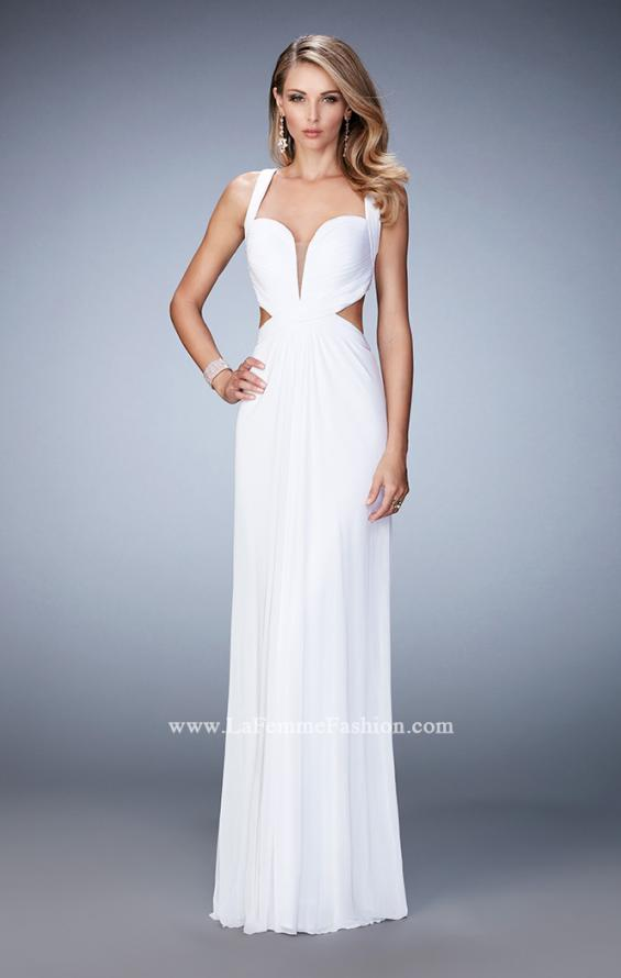 Picture of: Sexy Prom Dress with Cut Outs and Open Back in White, Style: 22224, Detail Picture 3