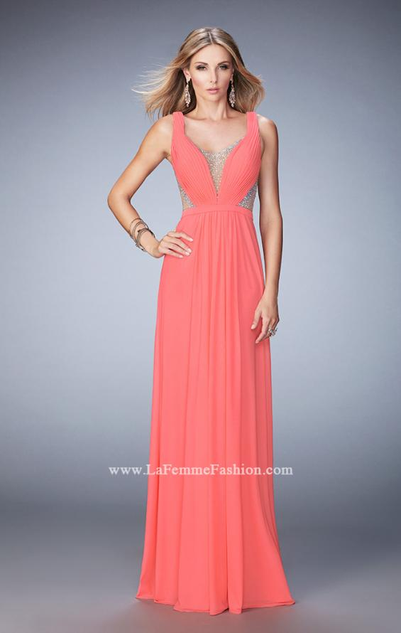 Picture of: Alluring Prom Dress with Plunging Neckline and Open Back, Style: 22238, Detail Picture 1