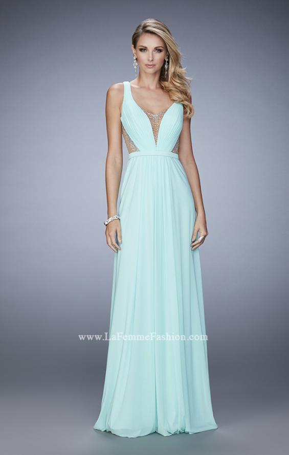 Picture of: Alluring Prom Dress with Plunging Neckline and Open Back, Style: 22238, Detail Picture 2