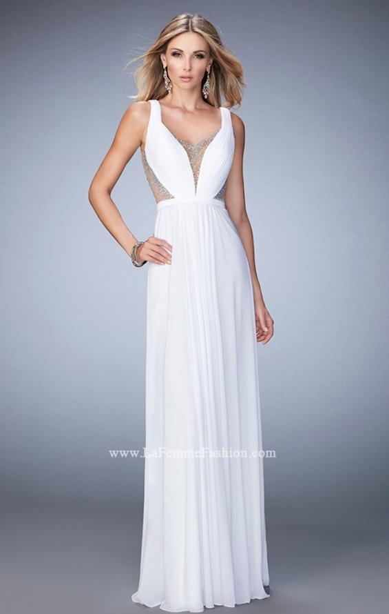 Picture of: Alluring Prom Dress with Plunging Neckline and Open Back, Style: 22238, Detail Picture 3
