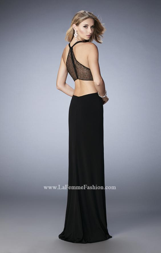Picture of: Elegant Prom Dress with Sheer Back and Rhinestones in Black, Style: 22288, Detail Picture 2
