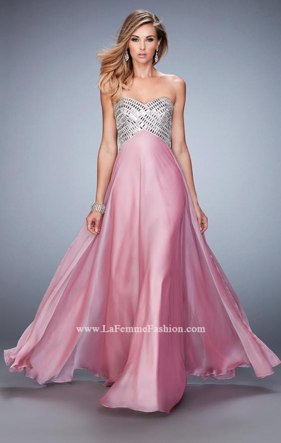 Picture of: Long Chiffon Prom Dress with Open Back and Silver Beads, Style: 22334, Detail Picture 2