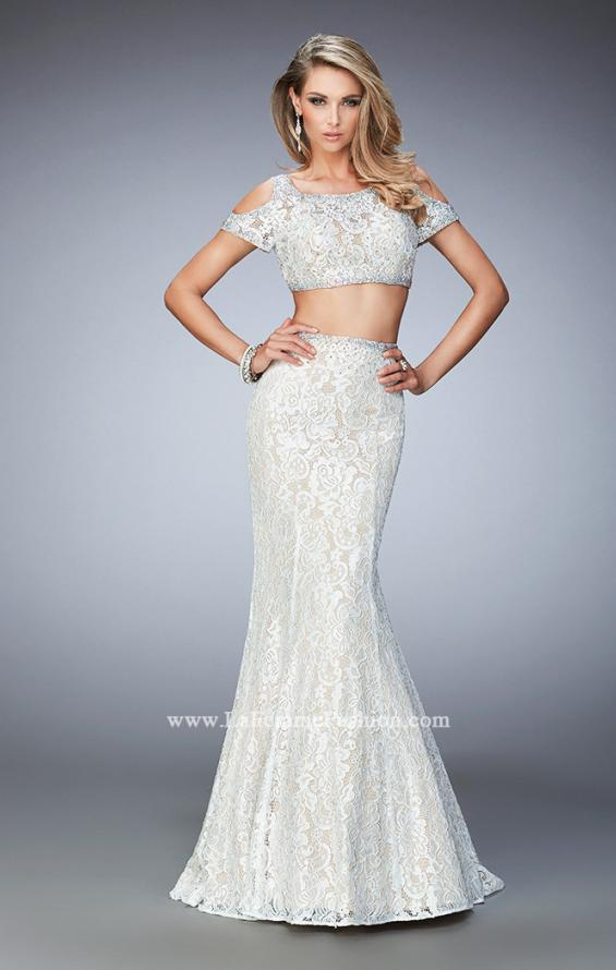 Picture of: Cold Shoulder Two Piece Prom Dress with Mermaid Skirt, Style: 22339, Main Picture
