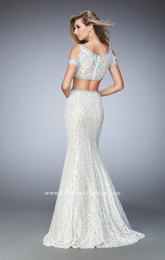 Picture of: Cold Shoulder Two Piece Prom Dress with Mermaid Skirt, Style: 22339, Back Picture