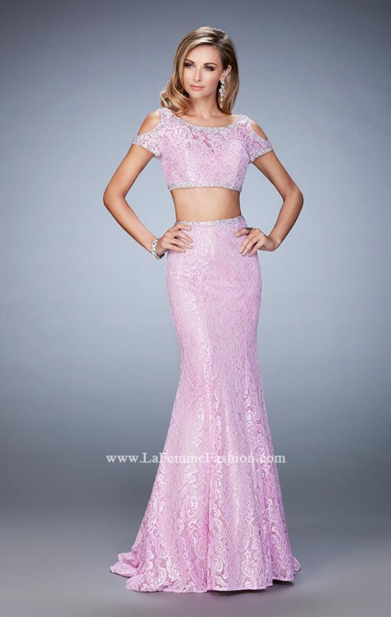 Picture of: Cold Shoulder Two Piece Prom Dress with Mermaid Skirt, Style: 22339, Detail Picture 1
