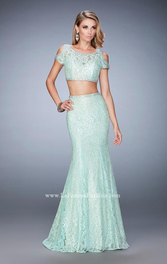 Picture of: Cold Shoulder Two Piece Prom Dress with Mermaid Skirt, Style: 22339, Detail Picture 2