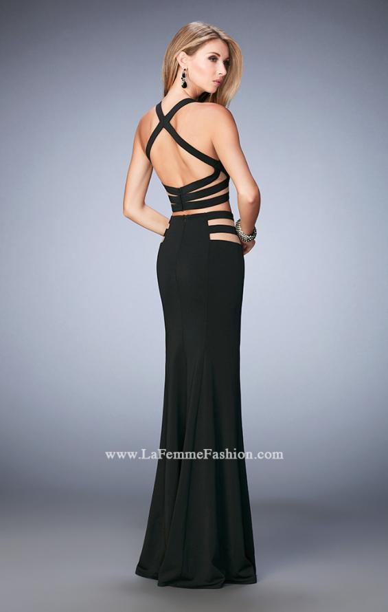 Picture of: Long Two Piece Mermaid Gown with Strappy Back, Style: 22367, Back Picture
