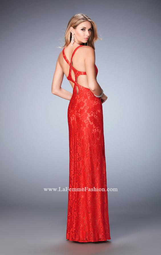 Picture of: Elegant Lace Prom Dress with Cut Outs and Rhinestones, Style: 22381, Main Picture