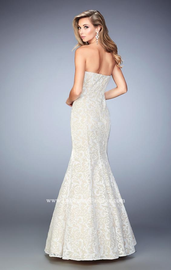 Picture of: Long Sequin Lace Prom Dress with Sweetheart Neck, Style: 22390, Back Picture