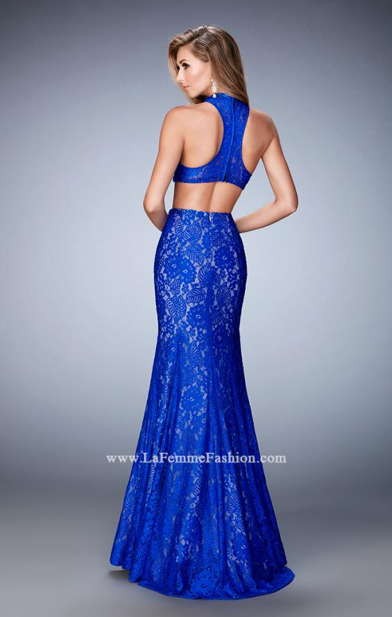 Picture of: Glam Racer Back Two Piece Gown with Rhinestones, Style: 22393, Back Picture