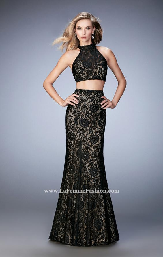 Picture of: Glam Racer Back Two Piece Gown with Rhinestones, Style: 22393, Detail Picture 2