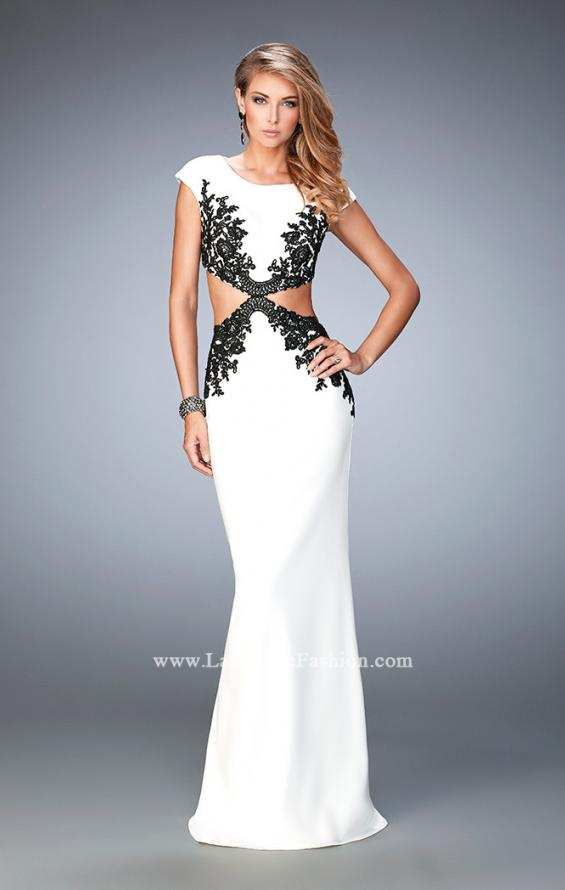 Picture of: Embroidered Jersey Prom Dress with Cut Outs, Style: 22426, Main Picture