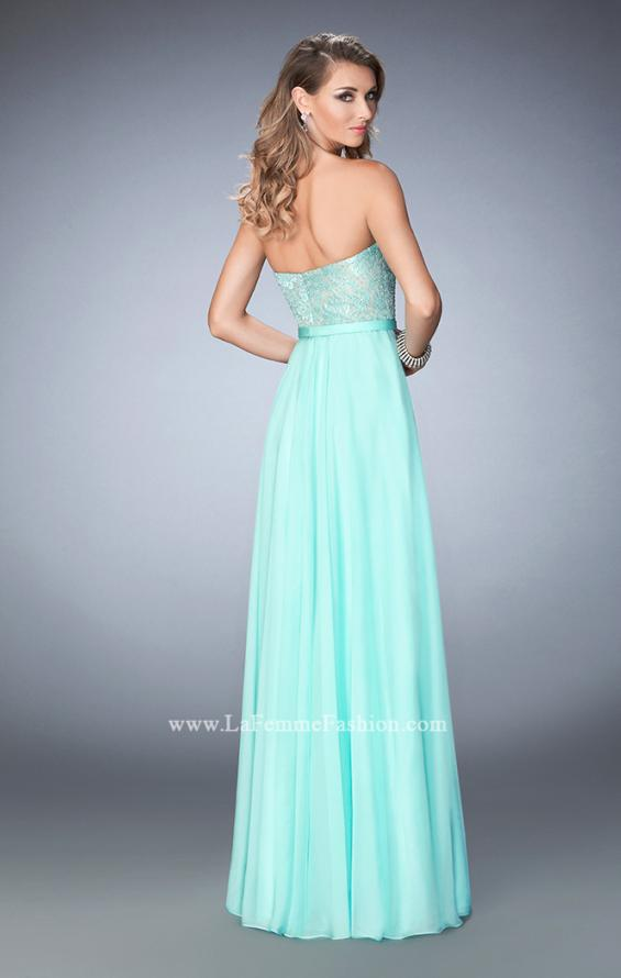 Picture of: Chiffon Prom Dress with Rhinestone Lace Bodice, Style: 22448, Back Picture
