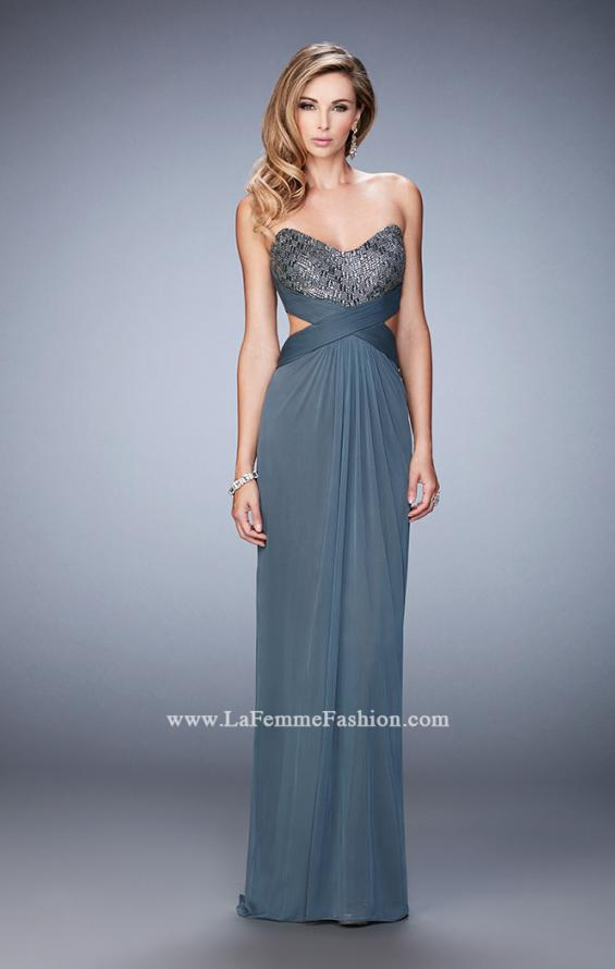 Picture of: Elegant Prom Dress with Bandeau Style Back and Beads, Style: 22454, Detail Picture 1