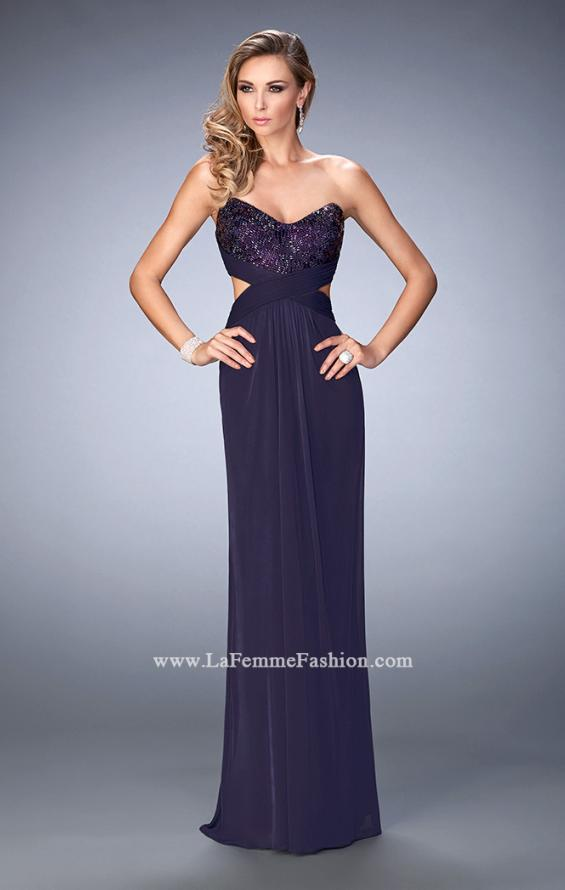 Picture of: Elegant Prom Dress with Bandeau Style Back and Beads, Style: 22454, Detail Picture 2