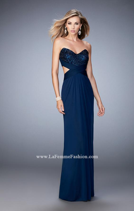 Picture of: Elegant Prom Dress with Bandeau Style Back and Beads, Style: 22454, Detail Picture 3