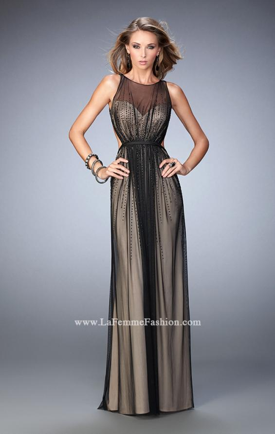 Picture of: Elegant Prom Gown with Black Beading and Open Back in Black, Style: 22464, Main Picture