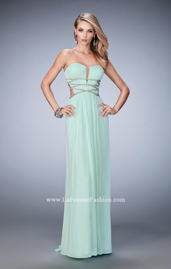 Picture of: Long Prom Gown with Strappy Waistline and Back, Style: 22465, Main Picture