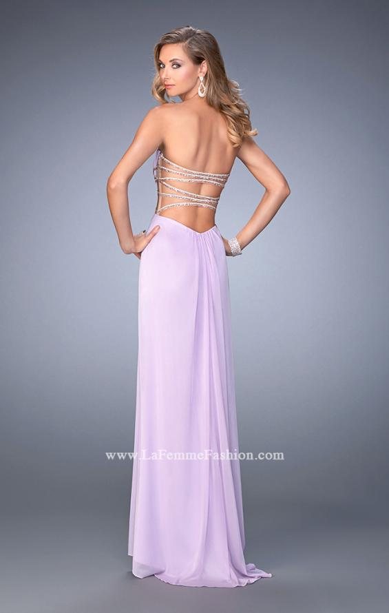 Picture of: Long Prom Gown with Strappy Waistline and Back, Style: 22465, Back Picture