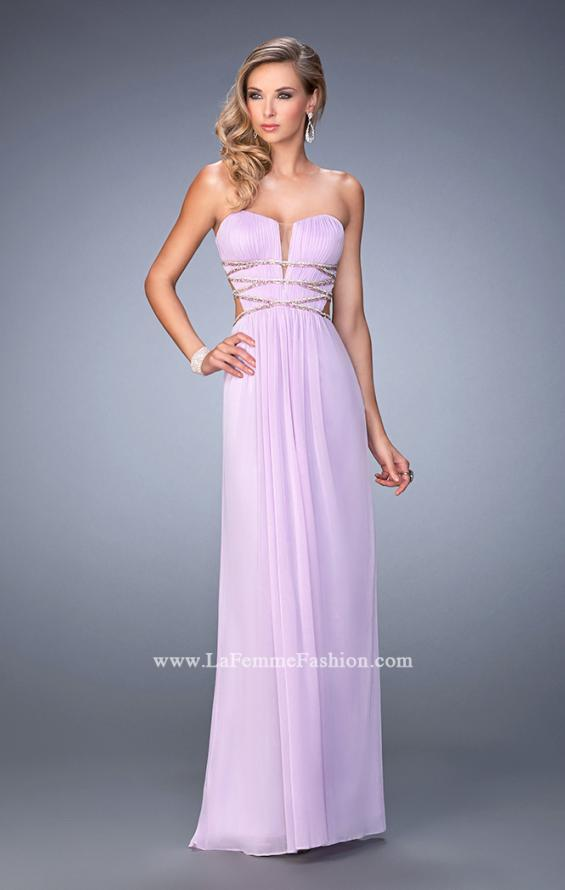 Picture of: Long Prom Gown with Strappy Waistline and Back, Style: 22465, Detail Picture 1