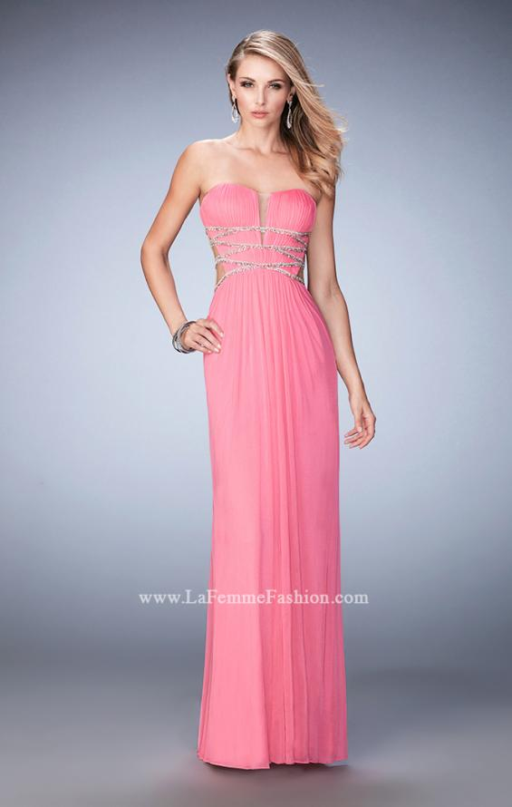 Picture of: Long Prom Gown with Strappy Waistline and Back, Style: 22465, Detail Picture 2