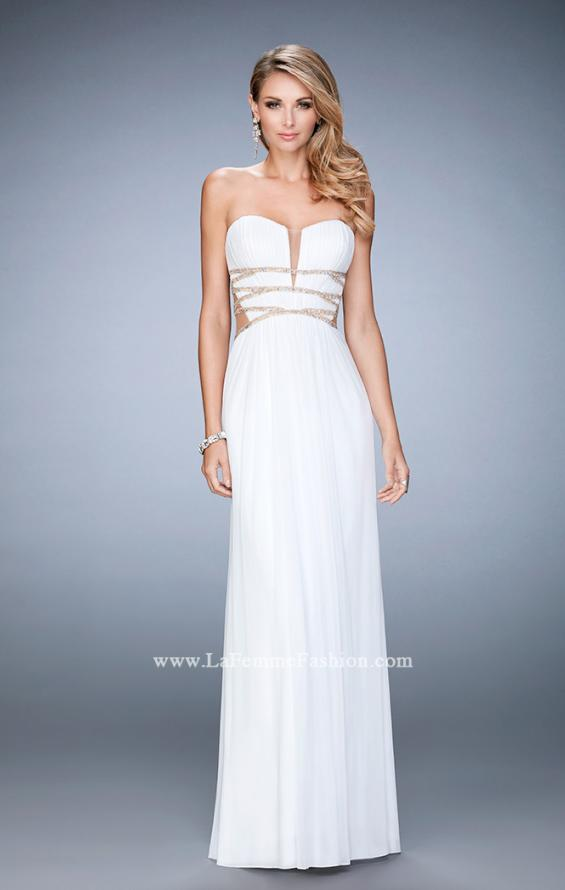 Picture of: Long Prom Gown with Strappy Waistline and Back, Style: 22465, Detail Picture 3