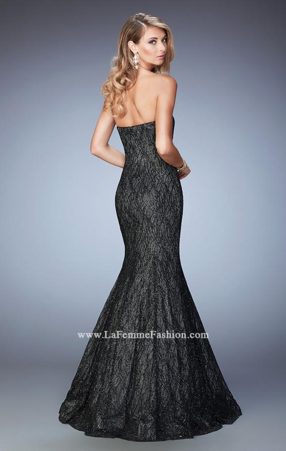 Picture of: Long Prom Gown with Sparkle Net Overlay, Style: 22488, Back Picture