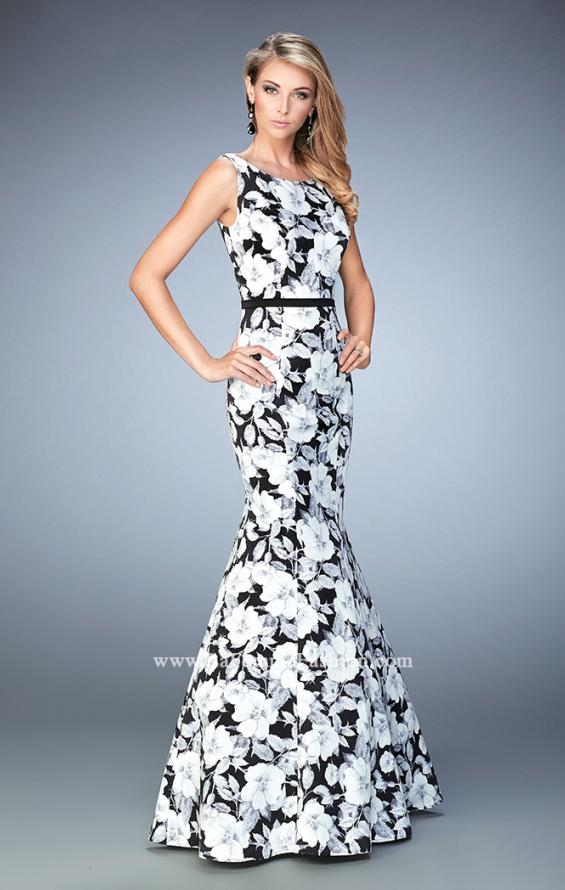 Picture of: Monochromatic Floral Print Mermaid Prom Dress, Style: 22494, Main Picture