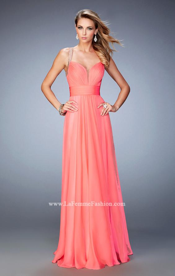 Picture of: Embellished Lace Applique Chiffon Prom Dress, Style: 22503, Back Picture