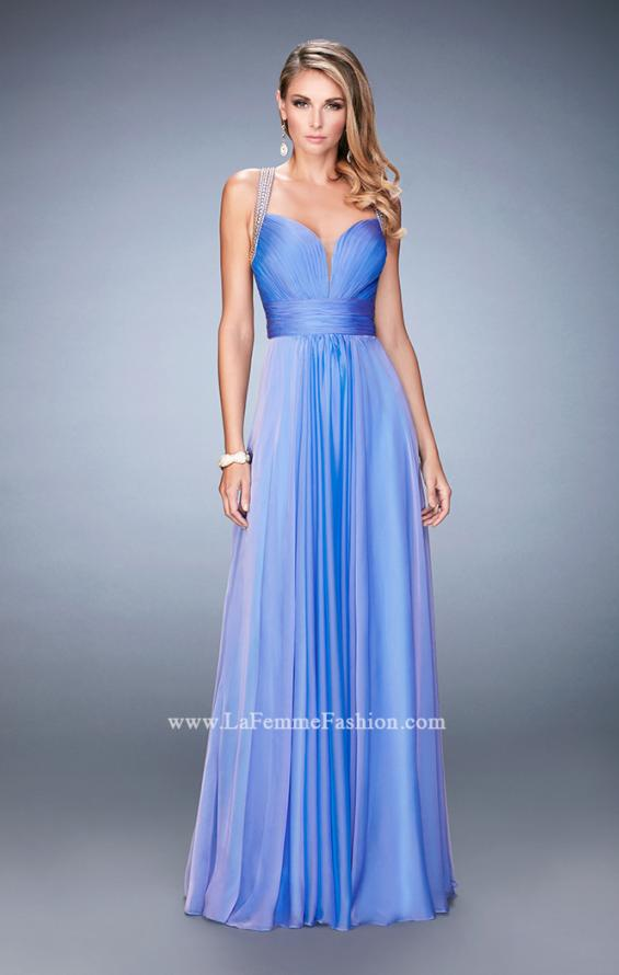 Picture of: Embellished Lace Applique Chiffon Prom Dress, Style: 22503, Detail Picture 2