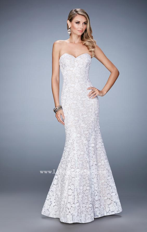 Picture of: Long Mermaid Prom Gown with Sweetheart Neckline in White, Style: 22511, Detail Picture 2