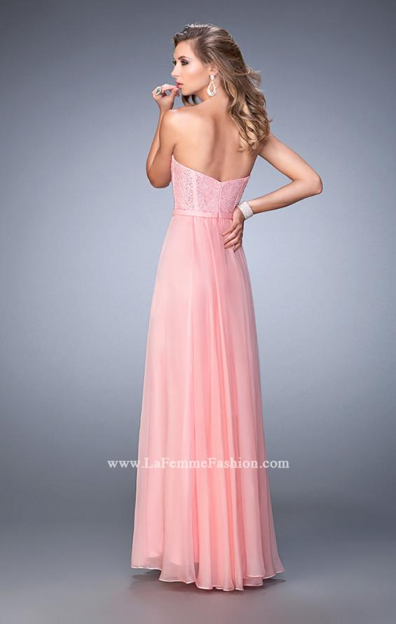Picture of: Long Chiffon Prom Dress with Crystal Rhinestones in Pink, Style: 22524, Back Picture