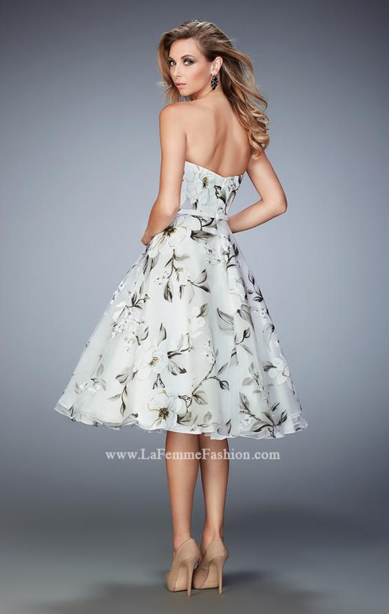 Picture of: Floral Organza Tea Length Prom Dress, Style: 22533, Back Picture