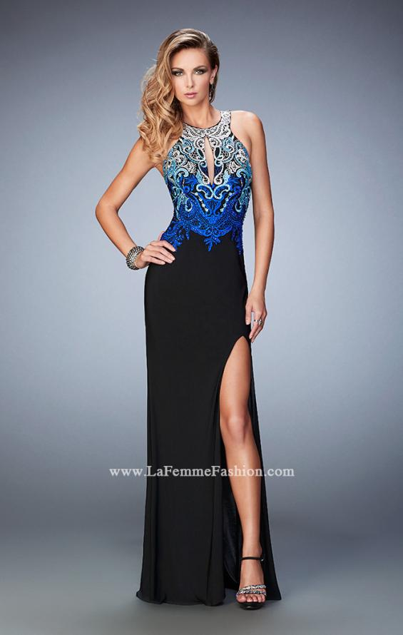 Picture of: Embroidered Jersey Prom Dress with Rhinestones, Style: 22580, Main Picture