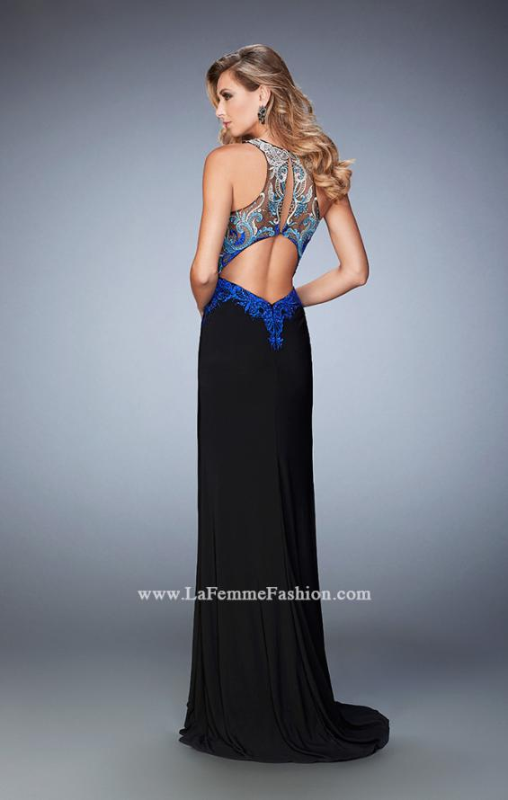 Picture of: Embroidered Jersey Prom Dress with Rhinestones, Style: 22580, Back Picture