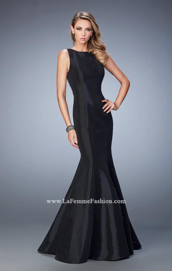 Picture of: Prom Dress with Rhinestones, Beads, and Crystals in Black, Style: 22590, Back Picture