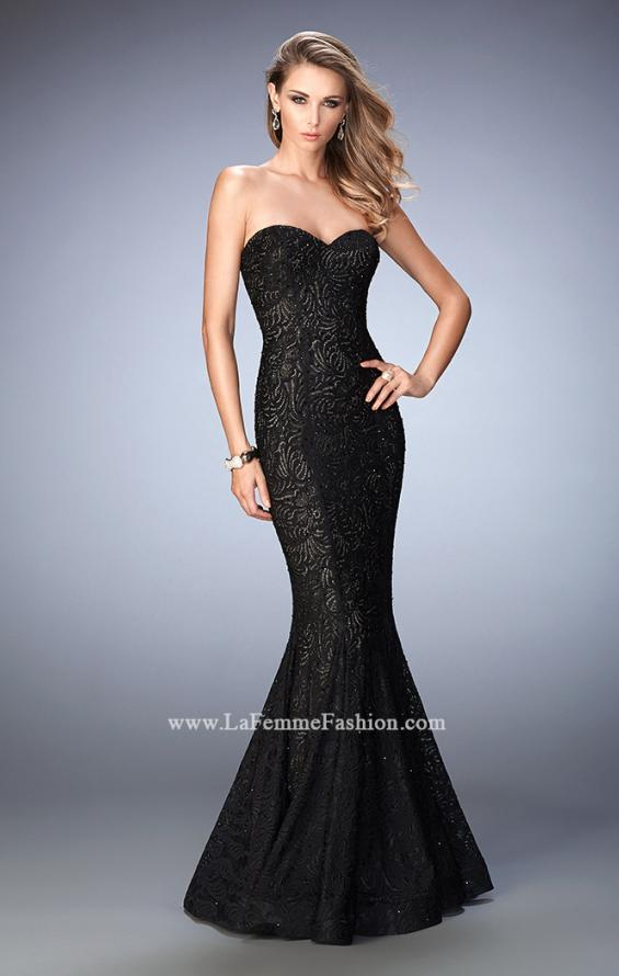Picture of: Lace Mermaid Prom Dress Gold Shimmer Lining, Style: 22599, Main Picture