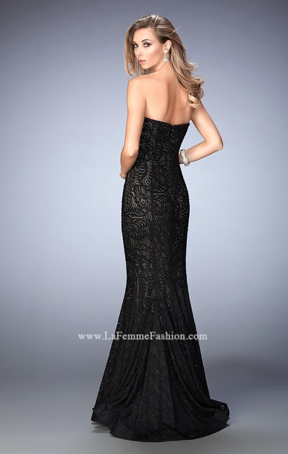 Picture of: Lace Mermaid Prom Dress Gold Shimmer Lining, Style: 22599, Back Picture