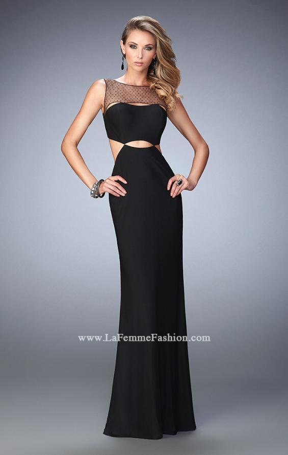 Picture of: Embellished Jersey Prom Dress with Cut Out Neckline, Style: 22600, Main Picture