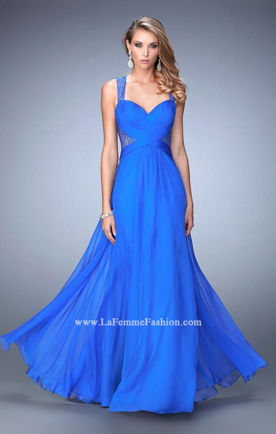 Picture of: Long Floral Chiffon Gown with Sweetheart Neckline, Style: 22612, Main Picture