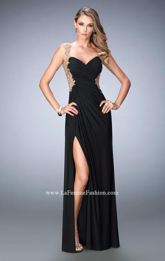 Picture of: Embroidered Net Prom Gown with Open Back, Style: 22616, Main Picture