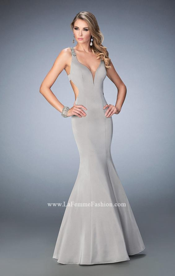 Picture of: Open Back Mermaid Prom Dress with Beaded Straps, Style: 22631, Main Picture